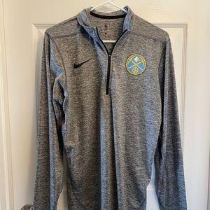 Men's Nike Denver Nuggets Half Zip Sweatshirt